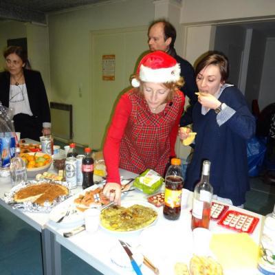 Marie Claude en mère Noël