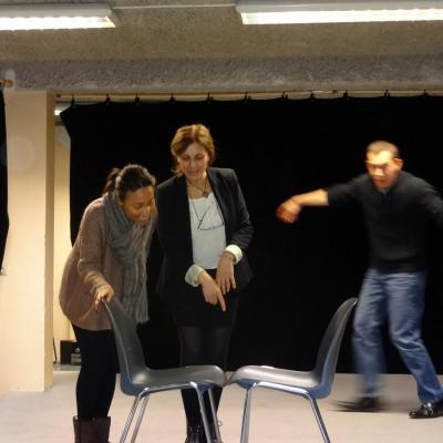 Christophe, Assia et Sabrina